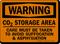 Co2 Storage Area Warning Sign