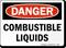 OSHA Danger, Combustible Liquids Sign