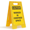 Caution Worker in Confined Space Fold-Ups® Floor Sign