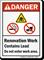 Renovation Work Do Not Enter Work Area Sign