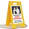 Highly Contageous Please Practice Social Distancing FloorBoss XL™ Floor Sign