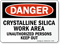 Crystalline Silica Work Area OSHA Danger Sign