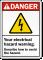 Personalized ANSI Electrical Hazard Warning Sign