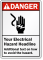 Personalized ANSI Danger Electrical Hazard Sign