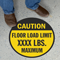 Personalized Caution Floor Load Limit Anti-Skid Floor Sign