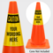 Custom OSHA Caution Cone Collar