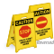 Personalized Caution Reversible Fold-Ups Floor Sign