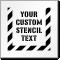 Custom Text Sign Stencil