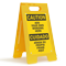 Custom Bilingual Caution Floor Standing Sign