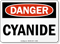 Danger Cyanide Sign