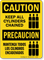 Caution Keep All Cylinders Chained Sign Bilingual