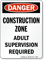 Danger Construction Zone Sign