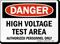 Danger High Voltage Area Sign
