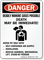 Deadly Manure Gases Possible Death OSHA Danger Sign