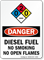 Diesel Fuel No Smoking Sign with NFPA Symbol