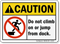 Do Not Climb On Jump From Dock Sign