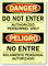 Do Not Enter Authorized Personnel (Bilingual) Sign