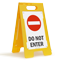 Do Not Enter Fold-Ups® Floor Sign