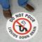 Do Not Pour Liquids Down Drain Sign