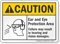 Ear And Eye Protection Area ANSI Caution Sign