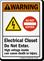 Electrical Closet Do Not Enter High Voltage Sign