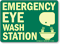 Emergency Eyewash Station Sign (with graphic)