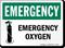 Emergency Oxygen Sign