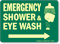 Emergency Shower & Eye Wash (Arrow) Sign