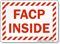 FACP Inside Sign With Striped Border