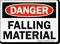Danger Falling Material Sign