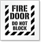 Fire Door, Do Not Block Floor Stencil