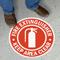 Fire Extinguisher Circular Anti-Skid Floor Sign
