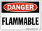 OSHA Danger Flammable Sign