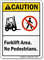 Forklift Area No Pedestrians Caution Sign