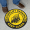 Forklift Parking Keep Clear SlipSafe Floor Sign