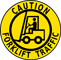 Caution Forklift Traffic Floor Sign