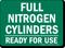 Full Nitrogen Cylinders Ready Sign