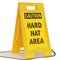 Caution Hard Hat Area Standing Floor Sign