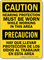 Caution Hearing Protection Worn Bilingual Sign