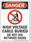 High Voltage Cable Buried Do Not Dig OSHA Danger Sign