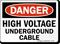 High Voltage Underground Cable OSHA Danger Sign