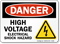 High Voltage Electrical Shock Hazard OSHA Danger Sign