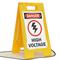 Danger High Voltage W/Graphic Fold-Ups® Floor Sign