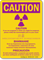 If Pregnant Notify Technologist OSHA Multilingual Caution Sign