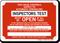Inspectors Test Fire Sprinkler Identification Sign