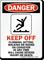 Danger Climb Sit Ride Conveyor Sign