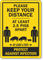 Keep Your Distance At Least 2.5 Pigs Apart Sign