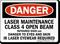 Laser Maintenance Infrared Danger Sign