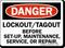 Danger Sign: Lockout/Tagout Before Set-Up