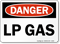 Lp Gas OSHA Danger Sign